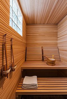 how to build a sauna in a house