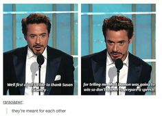 RDJ & his wife, Susan