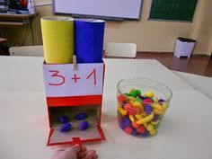 11 math games that are too cool to do at home or at school ! - 11 math games that are too cool to do at home or at school ! Montessori Activities, Kindergarten Math, Teaching Math, Learning Activities, Preschool Activities, Kids Learning, Math Addition, Addition And Subtraction, Teaching Addition