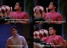 Funny Friends Tv SHow quotes friend zone Friends Tv Show, Serie Friends, Friends Moments, I Love My Friends, Friends Forever, Funny Moments, Ross Friends, Friends Episodes, Friends Cast