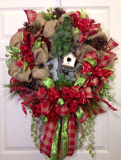 christma wreath, burlap wreaths, christmas, christma burlap