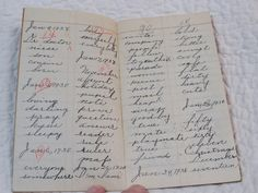 Spelling Book Hand Written 1937 Vintage by rarefinds4u on Etsy