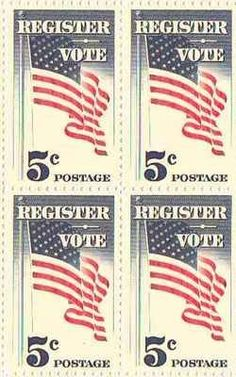 Register/Vote Set of 4 x 5 Cent US Postage Stamps NEW Scot 1249 => Trust me, this is great! : FREE Toys and Games