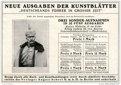 Original-Werbung/ Anzeige 1915 - KUNSTBLÄTTER : DEUTSCHLANDS FÜHRER IN GROSSER ZEIT / SCHERL- ca 180 X 130 mm