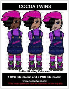Cricut Fonts, Black Artwork, Woman Standing, Roller Skating, Image Collection, Black Girl Magic, Digital Image, Cocoa, Skate