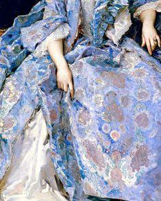Portrait of María Hahn (the painter's wife), detail; by Raimundo de Madrazo y Garreta.