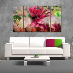 BUT not in 3 pieces Ready2hangart 'Painted Petals LXIV' 3-piece Canvas Wall Art Set