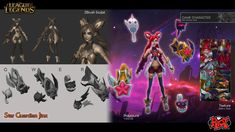 Star Guardian Jinx is one of the best skin I've ever worked on. Star Guardian Jinx Cosplay, Jinx League Of Legends, Fake Skin, Hand Painted Textures, Texture Painting, Zbrush, Game Character, Game Art, Lol