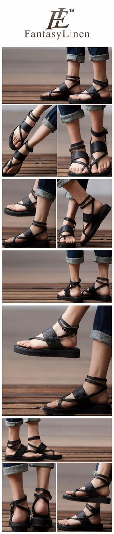 SUMMER LADIES BLACK FLAT STRAPPY SANDALS S36171A