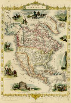 Historic Maps| Serafini Amelia| John Tallis, 1851, North America
