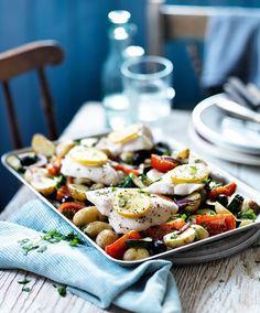 Mediterranean fish roast from Slimming World