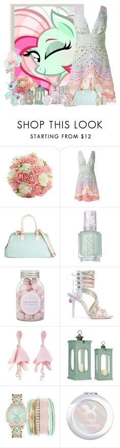 """pony"" by frane-x ❤ liked on Polyvore featuring My Little Pony, Valentino, Essie, Sophia Webster, Oscar de la Renta and Jessica Carlyle"
