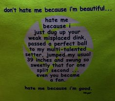 Volleyball - Don't Hate Me neon tee $18
