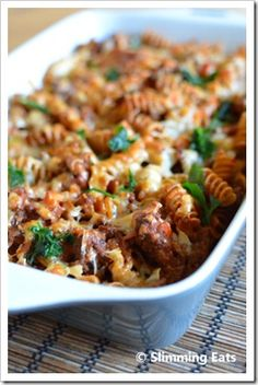 Slimming World Recipes Slimming World Dinners, Slimming World Diet, Slimming Eats, Slimming World Recipes, Beef Recipes, Cooking Recipes, Healthy Recipes, Pasta Recipes, Bolognese Pasta Bake