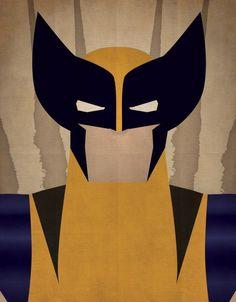 Minimal Heroes: Wolverine by JeffJanelleArtDesign on Etsy Wolverine Claws, Wolverine Art, Thundercats, Marvel Art, Marvel Comics, Ms Marvel, Captain Marvel, Art Mini Toile, Superhero Poster