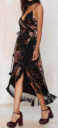 Senorita wrap dress. Boho bohemian gypsy style. For more follow www.pinterest.com/ninayay and stay positively #inspired