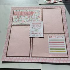12x12 Premade Scrapbook Pages Baby Girl Bundle Of Joy