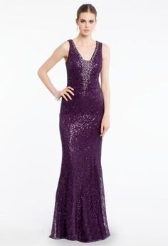 Sequined V-Neck Dres