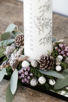 DIY Christmas advent decoration by Søstrene Grene