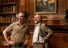 The Walking Dead S7E05 'Go Getters' - Simon (Steve Ogg) and Gregory (Xander Berkeley) at Hilltop. Photo by Gene Page/ AMC