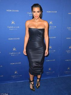 Rain check: Kim Kardashian has nixed an appearance she was slated to make on October 28 at the Hakkasan Nightclub in Las Vegas, according to E! News; she's pictured there in July