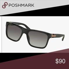 Bvlgari Men's Sunglasses 7022-F 5309/11 Black/gray shaded men's sunglasses Bvlgari Accessories Sunglasses