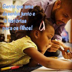 Gente que desenha junto e lê histórias para os filhos! <3