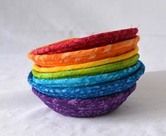 Your place to buy and sell all things handmade Cute Desk Accessories, Rainbow Candy, Rope Basket, Birthday Favors, Clothes Line, Shabby Chic Homes, Candy Dishes, Easter Baskets, Machine Quilting