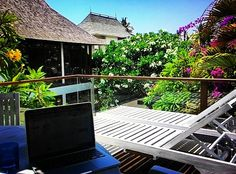 Today's work location. New rooftop terrace. Love it <3 #digitalnomad #ilovemyjob #ilovemylife #bali #laptoplifestyle #viptravel #wanderlust #travelmore #neverleaving #everydamnday #invigoratedliving