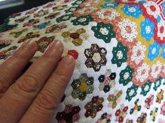 insane hex quilt... TINY hexagons