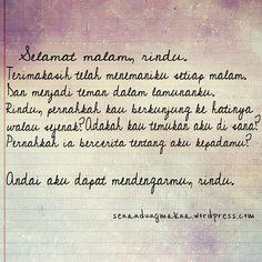 Selamat malam, rindu. #quotes #puisi #Indonesia