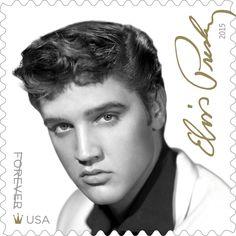 Elvis Presley, nueva estampilla postal del Servicio Postal de EE.UU., 08/2015