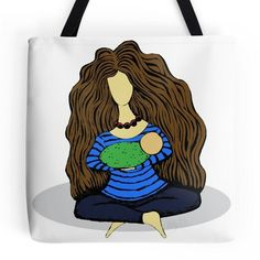 Mother and child tote. #hollyddesigns redbubble.com/people/hollyddesigns