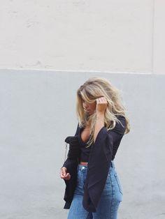 Matildadjerf Blog: dramatic top + vintage jeans