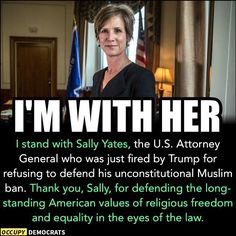 It's the job of the US Att.Gen.to Follow the Law+Constitution. Yet, Repukkke Fascist Trump fired her... where is the Outrage???