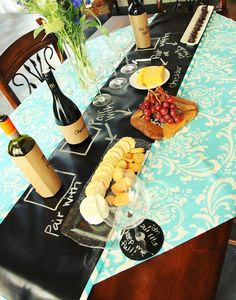"chalkboard party ideas | Linens"" Reversible Chalkboard Tablecloths via Kara's Party Ideas ..."