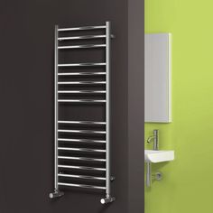 Phoenix Athena Stainless Steel Designer Heated Towel Rail 430mm x 600mm Central Heating