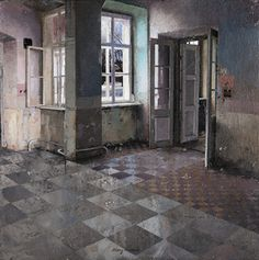 paintings of abandoned buildings by Matteo Massagrande