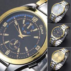 Luxury Men Stainless Steel Military Sport Analog Dial Quartz Wrist Watch