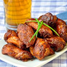 Smoked Wings with Smokin' Summer Spice Barbecue Sauce