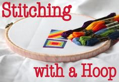 Stitching with a Hoop