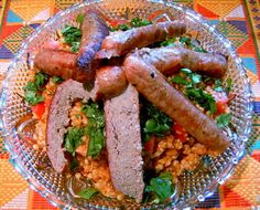 Tunisian Couscous Salad With Grilled Sausages | Recipe | Couscous ...