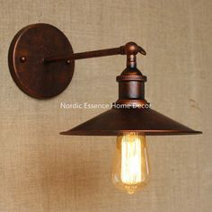 44.90$  Watch now - http://alixlk.worldwells.pw/go.php?t=32525855957 - American country industrial creative minimalist style retro nostalgia vintage aisle to do the old rusty iron wall sconce lamp