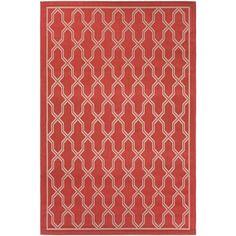Couristan Five Seasons Crystal Coast/ Red-Cream Rug (7'10 x 10'9)