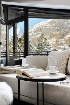 A good way to enjoy a sunday morning☕ . . . #DecoraDesign #interiordesign #homedeco #homedecor #homeconcept #curtains #curtainshop #curtainsystems #homedecoration #drapes #custaomcurtains curtainspecialist #curtains_fabrics #wallcoverings #cushions #swiss #swisshotel #switzerland #switzerland_vacantions switzerland_hotels #zermatt #matterhorn #zermattmatterhorn #zermattswitzerland #suisse #suisa Switzerland Hotels, Curtain Shop, Zermatt, Sunday Morning, Fabrics, Cushions, Restaurant, Windows, Curtains