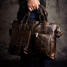 Color : Black Crystalzhong-MB Unisex Messenger Briefcase Leather Briefcase Genuine Leather Messenger Bag Briefcase for Men Handbag Elegant Business Carrying Case