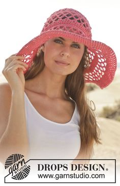Get that classic Hollywood look! #crochet hat, free pattern by #garnstudio #ss2014