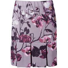 Boohoo Eden Floral Box Pleat Drop Hem Mini Skirt ($9) ❤ liked on Polyvore featuring skirts, mini skirts, short maxi skirt, short skirts, pleated skirts, pleated midi skirt and short mini skirts