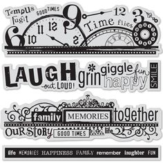 Hampton Art Stamp Set ~ Word Borders