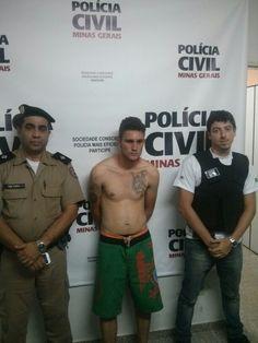 Prisao em flagrante de autor de quatro roubos em Jacutinga